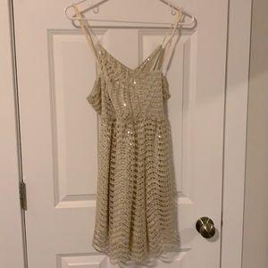 boohoo short sequin gold dress
